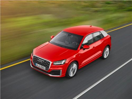 Audi Q2 2017 вид сверху