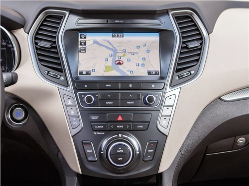 Hyundai Grand Santa Fe 2016 центральная консоль