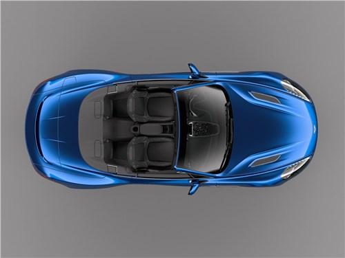 Aston Martin Vanquish S Volante 2017 вид сверху