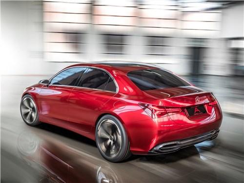 Предпросмотр mercedes-benz a sedan concept 2017 вид сзади
