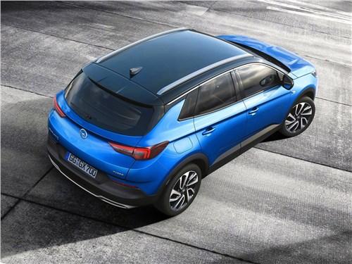 Какой привет из прошлого передает Opel Granland X Grandland X - Opel Grandland X 2018 вид сверху