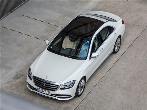 Mercedes-Benz S-Class 2018 вид сверху