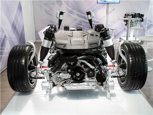 В Audi A8 нового поколения двигатель оснащен ременным стартер-генератором