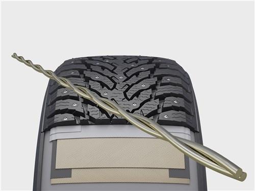 Легкая и особо прочная лента стального брекера High Tensile Steel belt противостоит проколам и порезам, одновременно придавая протектору стабильность, улучшая устойчивость и управляемость
