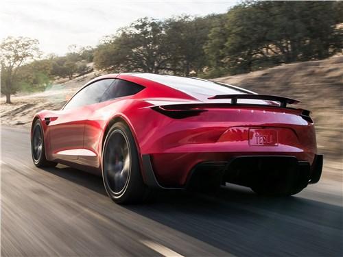 Tesla Rodster Concept 2020 вид сзади сбоку