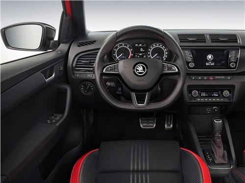 Европейский подход (Citroen C2, Citroen C3, Fiat Grande Punto, Ford Fiesta, Hyundai Getz, Nissan Micra, Opel Corsa, Seat Ibiza, Skoda Fabia, Volkswagen Polo) Fabia - Skoda Fabia 2019 салон