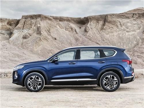 Новость про Hyundai - Hyundai Santa Fe 2019 вид сбоку