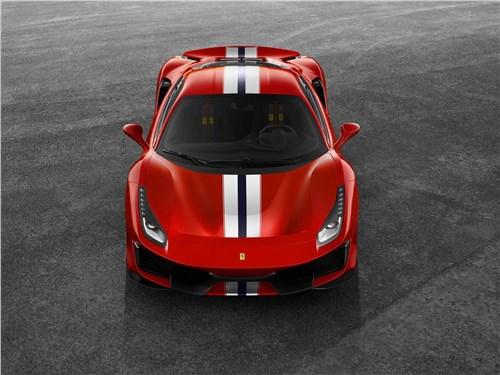 Ferrari 488 Pista 2019 вид спереди сверху