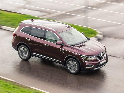 Renault Koleos 2017 вид сверху