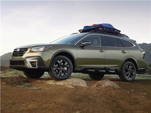 Меж гейзерами и вулканами Outback - Subaru Outback 2020 вид сбоку