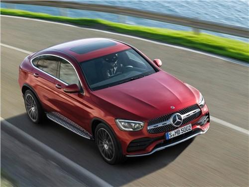 Mercedes-Benz GLC Coupe 2020 вид спереди сверху