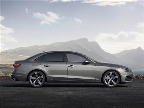 Audi A4 2020 вид сбоку