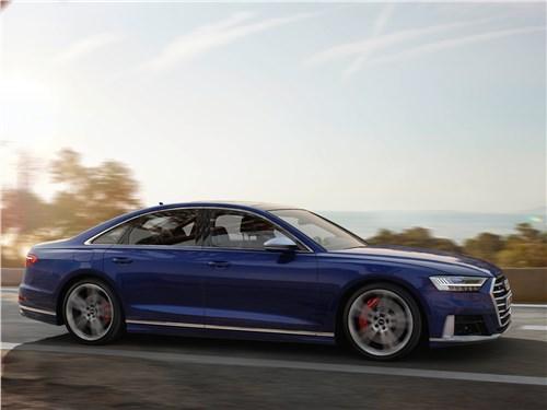 Audi S8 2020 вид спереди сбоку