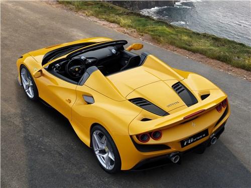 Ferrari F8 Spider 2020 вид сверху сзади