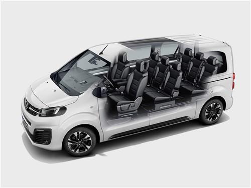 Opel Zafira Life 2020 салон