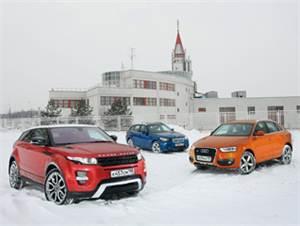Audi Q3, BMW X1, Land Rover Range Rover
