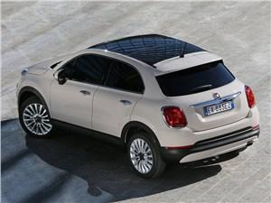 Fiat 500X 2015 вид сзади сверху