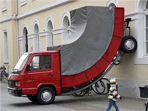 Штраф за незаконную парковку был выписан городскому арт-объекту