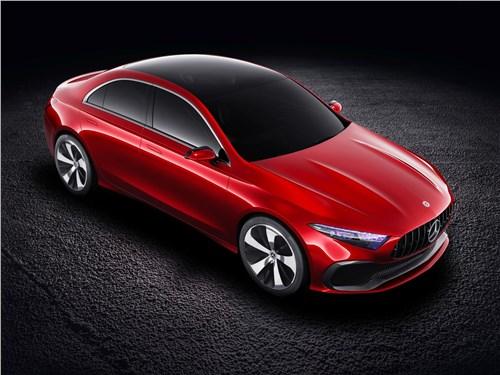 Предпросмотр mercedes-benz a sedan concept 2017 вид спереди сверху