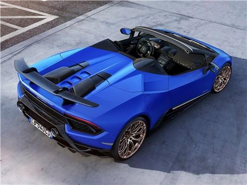 Lamborghini Huracan Performante Spyder 2019 вид сзади сверху