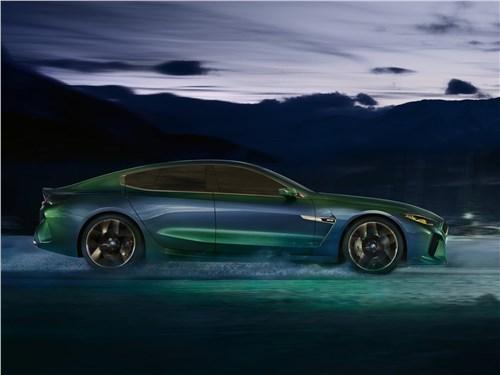 Предпросмотр bmw m8 gran coupe concept 2018 вид сбоку