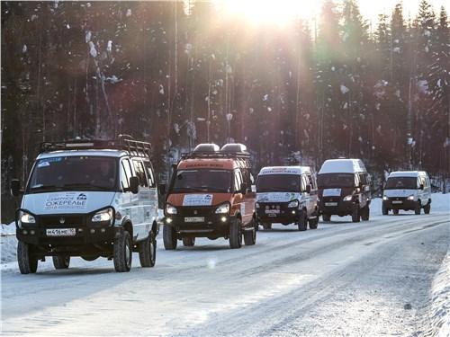 Караван полноприводных ГАЗов внес оживление в размеренный быт края