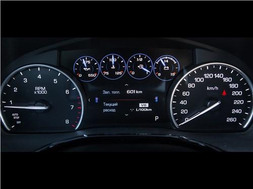 Cadillac XT5 2017 приборная панель