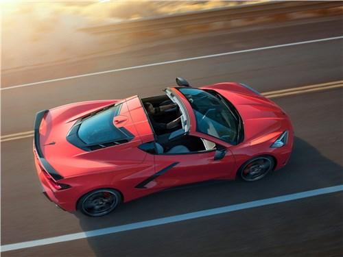 Chevrolet Corvette C8 Stingray 2020 вид сверху
