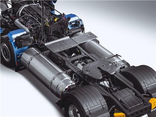 Модификация с двойными баками LNG может преодолеть до 1600 км без дозаправки