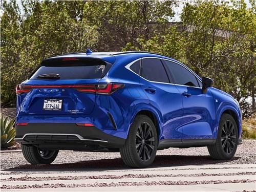 Lexus NX (2022) вид сзади