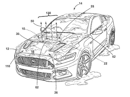 Ford запатентовал «тепловой» логотип для «Мустанга»