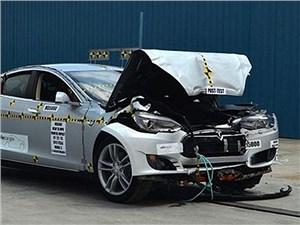 Новость про Tesla Motors Model S - Электрокар от Tesla оказался самым безопасными автомобилем в США