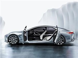 Предпросмотр infiniti q80 inspiration concept 2014 вид сбоку с открытыми дверями
