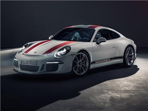 Предпросмотр porsche 911 r 2017 вид спереди сбоку