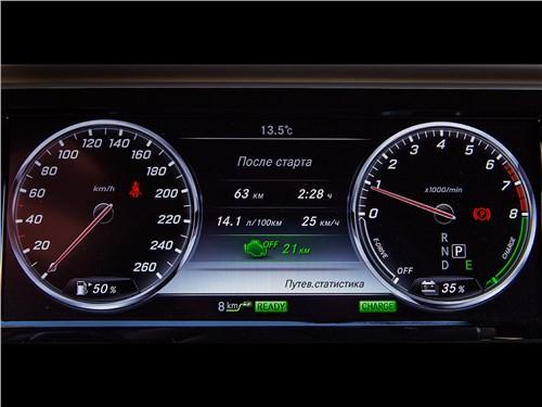 Предпросмотр mercedes-benz s500 e plug-in hybrid 2015 приборная панель