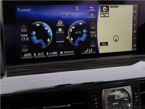 На 12-дюймовом экране Lexus LX 450d панель управления «климатом» выглядит очень внушительно