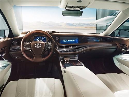 Мечты сбываются (Audi A8,BMW 7 Series,Jaguar XJ,Lexus LS,Mercedes-Benz S-Klasse,Volkswagen Phaeton) LS - Lexus LS500 2017 салон