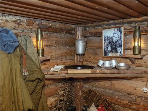 На территории «Партизанской деревни» восстановлена обстановка военных лет