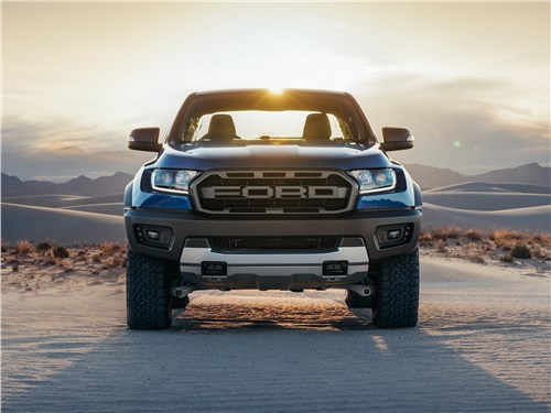 Предпросмотр ford ranger raptor 2019 вид спереди