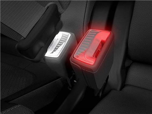 Новость про Skoda - Skoda придумала «умный» фиксатор ремня безопасности с цветовой индикацией