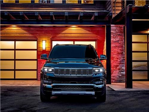 Предпросмотр jeep grand wagoneer (2022) вид спереди