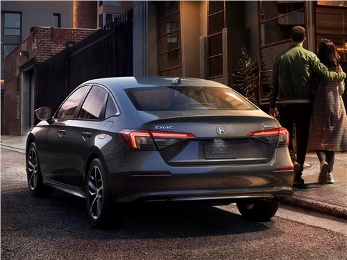 Предпросмотр honda civic sedan (2022) вид сзади