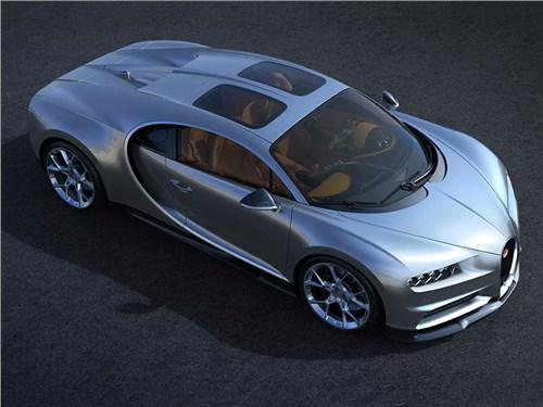 Bugatti Chiron получил панорамную крышу