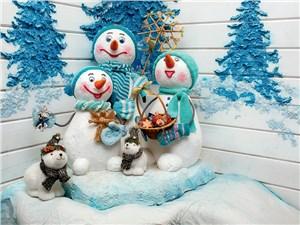 Великий устюг. Веселые снеговики