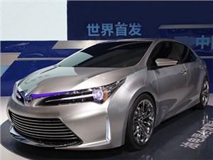 Гибридная версия Toyota Corolla представлена в Китае