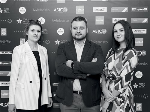 Наталья Костенок, Илья Никоноров и Мария Чумаркова (Mitsubishi)