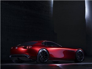 Предпросмотр mazda rx-vision concept 2015 вид сзади сбоку