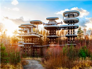 Построенная немцами огромная установка похожа на декорации к фантастическому фильму