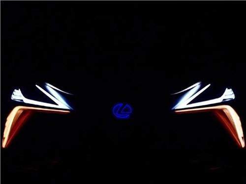 Lexus показал фары концепта флагманского кроссовера