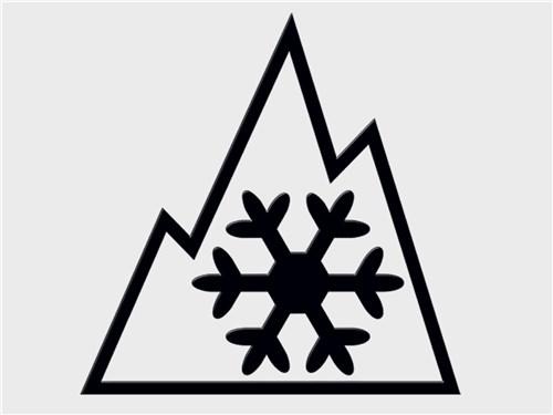 Cимвол снежинки, вписанной в горные пики соответствует техническому регламенту Таможенного союза